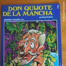 Cómics: DON QUIJOTE DE LA MANCHA EN FASCICULOS Nº 2 - EDICIONES NARANCO (P1). Lote 269117893