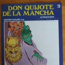 Cómics: DON QUIJOTE DE LA MANCHA EN FASCICULOS Nº 20 - EDICIONES NARANCO (P1). Lote 269121848