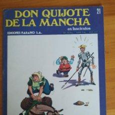 Cómics: DON QUIJOTE DE LA MANCHA EN FASCICULOS Nº 21 - EDICIONES NARANCO (P1). Lote 269122293