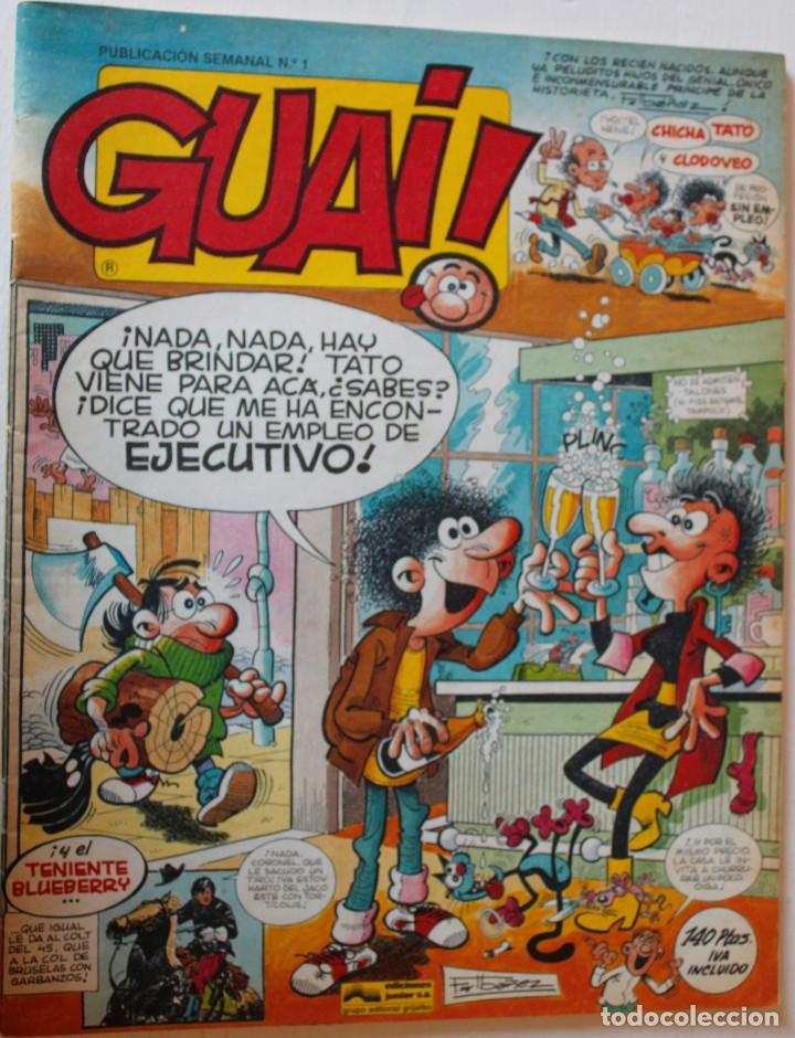 GUAI, EDITORIAL JUNIOR 1977 NÚMEROS 1,2,3 Y 4 (Tebeos y Comics - Comics Pequeños Lotes de Conjunto)