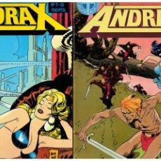Cómics: ANDRAX -JORDI BERNET- COMPLETA 12 NÚMEROS 1 AL 12 EN DOS TOMOS.TOUTAIN. MUY BUENA.. Lote 269295043