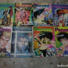 Cómics: REVISTA PECOSA TEBEO COMIC MUSICA LOTE CON 9 NUMEROS QUEEN LOS ELEGANTES CON POSTER. Lote 269298993