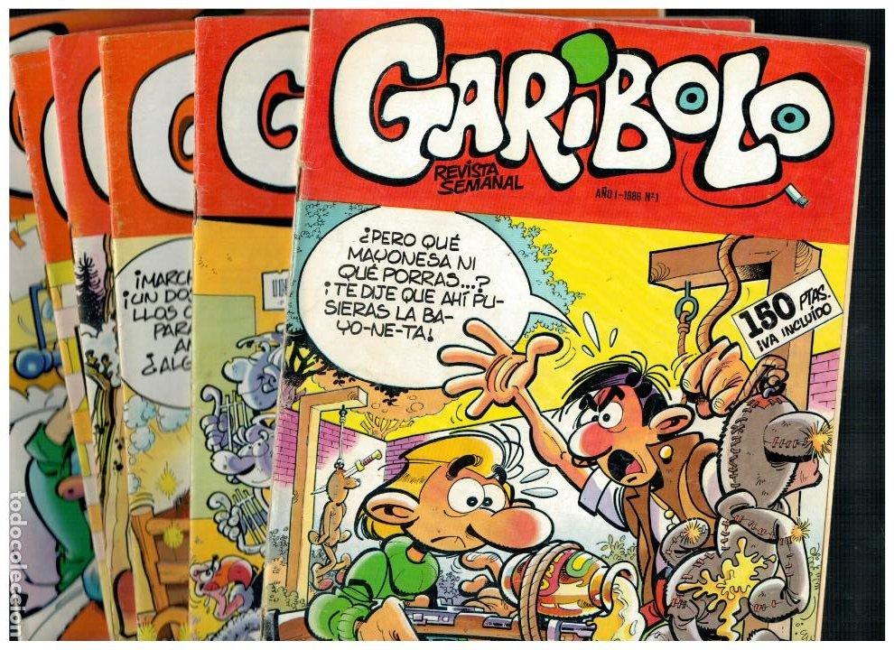 GARIBOLO -REVISTA SEMANAL- PEQUEÑO LOTE DE 6 NÚMEROS 1,2,3,4,12 Y 13.CÍA GRAL DE EDICIONES 1986. (Tebeos y Comics - Comics Pequeños Lotes de Conjunto)