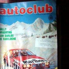 Cómics: REVISTA AUTOCLUB 123 883 DR C CARMAN RALLY MARLBORO ARG 83. Lote 269551733