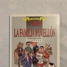 Cómics: 888.COMIC LOS ARCHIVOS DE TBO. LA FAMILIA ROVELLON. Nº 4 - EDICIONES B - TAPA DURA - 1ª EDICION 1990. Lote 269742998