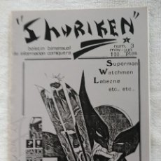 Cómics: SHURIKEN. FANZINE CÓMIC. Nº 3. JUNIO 1988.. Lote 269937028