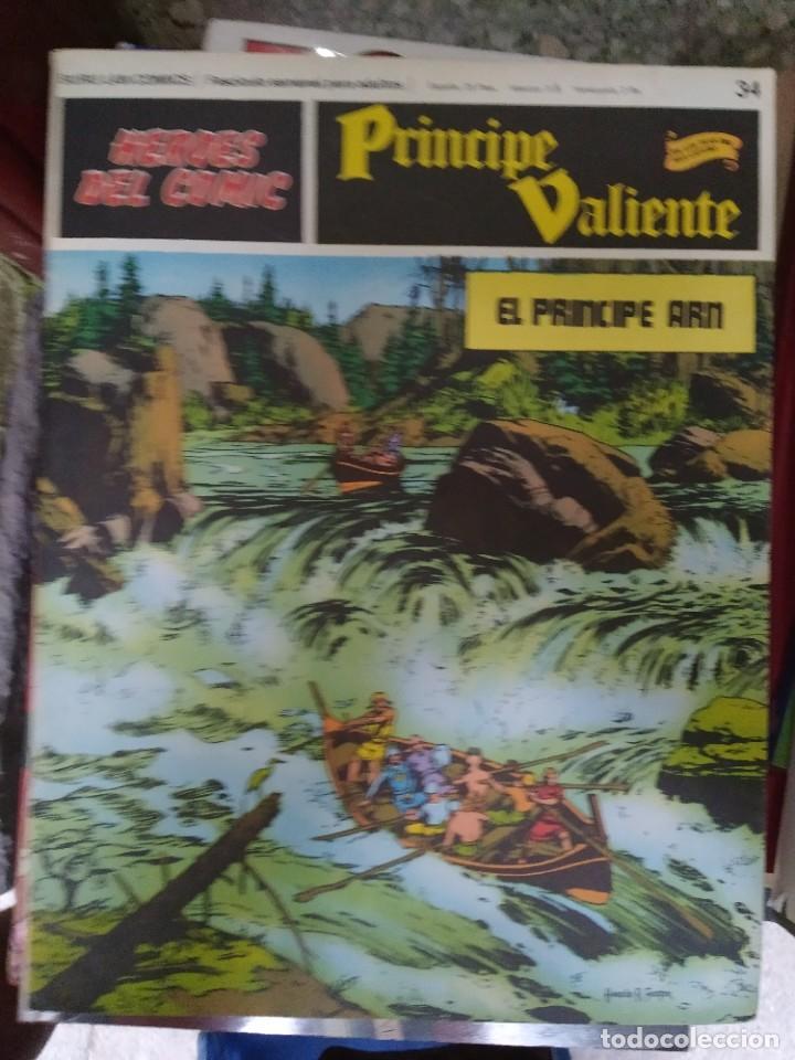 PRÍNCIPE VALIENTE Nº 34 (HÉROES DEL COMIC) - HAROLD FOSTER (Tebeos y Comics - Buru-Lan - Principe Valiente)