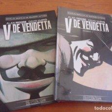 Cómics: V DE VENDETTA - TOMOS 1 Y 2 - COLECCION VERTIGO - SALVAT/ECC - EN TAPAS DURAS. Lote 271404288