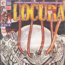 """Cómics: CÓMIC GLENAT """" LOCURA """" Nº 3 DE 6 ( LINEA AUTORES ESPAÑOLES ) ADULTOS. Lote 272011233"""