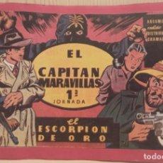 Cómics: EL CAPITAN MARAVILLAS 1ª JORNADA - EL ESCORPIÓN DE ORO. Lote 274425473