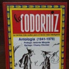 Cómics: LA CODORNIZ ANTOLOGÍA (1941 - 1978). EDITORIAL EDAF 1998 - BUEN ESTADO. Lote 274607458