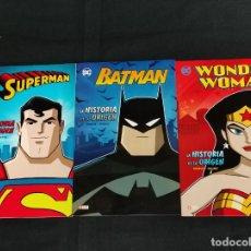 Comics: WONDER WOMAN - BATMAN - SUPERMAN - LA HISTORIA DE SU ORIGEN - ECC. Lote 275258178