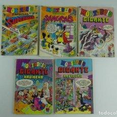 Cómics: COLECCION LOTE DE 5 COMICS DE MORTADELO GIGANTE Y ESPECIAL. Lote 275442283
