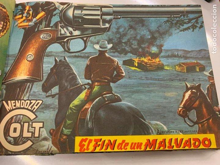 Cómics: Tomo 20 ejemplares originales MENDOZA COLT. 1958. Del 44 al 63. EDICOLOR. Excelente estado. Original - Foto 2 - 275734478