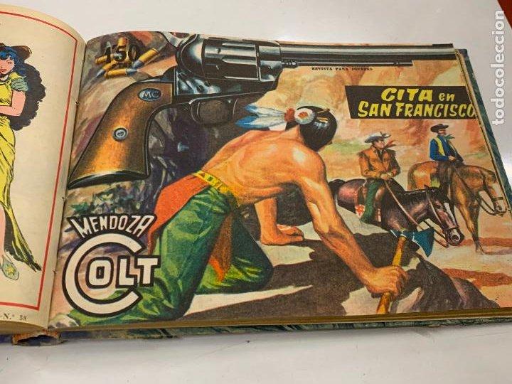 Cómics: Tomo 20 ejemplares originales MENDOZA COLT. 1958. Del 44 al 63. EDICOLOR. Excelente estado. Original - Foto 14 - 275734478