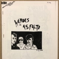 Cómics: HÉROES DE ASFALTO DE JOSÉ LUIS ABALO DURÁN (OÑATE 1984). HISTÓRICO FANZINE ORIGINAL. Lote 276705573