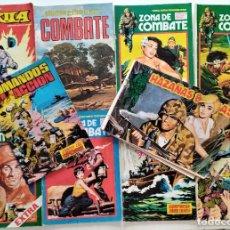 Cómics: LOTE 10 COMICS DE GUERRA. GORILA, ZONA DE COMBATE, COMANDOS EN ACCIÓN, HAZAÑAS BÉLICAS. Lote 276931248