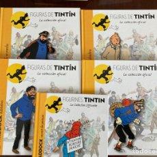 Cómics: FIGURAS DE TINTÍN. MOULINSART- ALTAYA. 5 LIBROS/ FASCICULO.. Lote 277019483