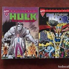Cómics: HULK / THOR MARVEL COMICS EXCELSIOR BIBLIOTECA MARVEL NUMEROS 1 .NUEVOS SIN USO. Lote 277072583