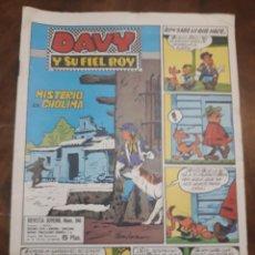 Cómics: DAVY Y SU FIEL ROY Nº 346 MISTERIO EN CHOLIMA. Lote 277081243
