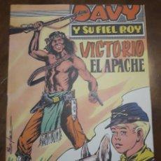 Cómics: DAVY Y SU FIEL ROY Nº 322 VICTORIO EL APACHE. Lote 277081398