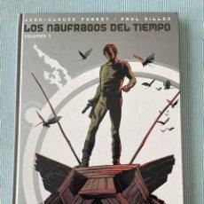 Cómics: LOS NAUFRAGOS DEL TIEMPO COMPLETA 5 TOMOS - GLENAT - CARTONE - COMO NUEVOS. Lote 277089953