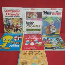 Cómics: TEBEOS O COMICS ANTIGUOS VARIADOS ASTERIX MORTADELO PITUFOS TITI ESCRITOS EN FRANCES MENOS 1. Lote 277137478