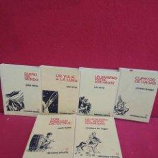 Cómics: LIBROS ANTIGUOS HISTORIAS INFANTILES CLASICAS DE JULIO VERNE - MARK TWAIN LOTE DE 6 UDS.. Lote 277138093