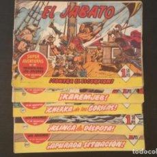 Cómics: CÓMIC EL JABATO EDITORIAL BRUGUERA AÑOS 60 ORIGINALES LOTE 5 NÚMEROS 8,82,117,177,207. Lote 277144948
