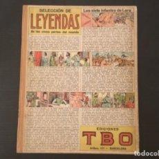 Cómics: CÓMIC SELECCION DE LEYENDAS DE LAS CINCO PARTES DEL MUNDO EDICIONES TBO AÑOS 30. Lote 277180173