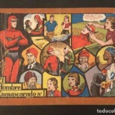 Cómics: CÓMIC EL HOMBRE ENMASCARADO NÚMERO 1 32 CM X 21,5 CM TAMAÑO GRANDE ORIGINAL ÁLBUM ROJO. Lote 277181893