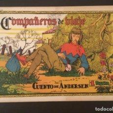 Cómics: COMIC COMPAÑEROS DE VIAJE CUENTO DE ANDERSEN NÚMERO 23 CROMO F.C. BARCELONA ÁLBUM FUTBOLÍSTICO 1942. Lote 277184933