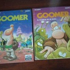 Cómics: GOOMER 1 Y 2 – RICARDO / NACHO - ED. EL PAÍS ALTEA AÑO 1990.. Lote 277192843