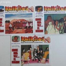 Cómics: LOTE DE 3 KALKITOS ERASE UNA VEZ... EL HOMBRE Nº 3, 4 Y 23 CUBIERTOS. Lote 277295103