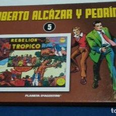Comics: COMIC TAPA DURA(ROBERTO ALCAZAR Y PEDRIN TOMO Nº 5 - PLANETA DE AGOSTINI )2010 6 AVENTURAS COMPLETAS. Lote 277662738