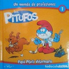 Cómics: LIBRO LOS PITUFOS UN MUNDO DE PROFESIONES VETERINARIO. NUEVO!!, LIBRO SUELTO.. Lote 278416258