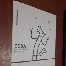 Cómics: CODA. FARSA DE VLADIMIR Y EL CABALLO. MAX. CATÁLOGO DE MANO LA EXPOSICIÓN EN GRANADA. DIPTICO.. Lote 278639163