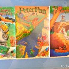 Cómics: DISNEY. EL LIBRO DE LA SELVA. PETER PAN. ARISTOGATOS. BEASCOA 1993-4 GRAN FORMATO, TAPA DURA. Lote 278833563
