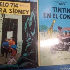 Cómics: LOTE DE 2 TINTIN TAPA DURA. Lote 283829943