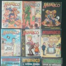 Cómics: AMANIACO ESPECIAL 1,2,4,5,8,ESPECIAL TELEVISION, GUIRIS, MEDICOS, 30 ANIVERSARIO. Lote 284033863