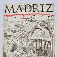 Comics: MADRIZ. NÚMERO 1. AYUNTAMIENTO DE MADRID, ENERO 1984. CÓMIC. CEESEPE, EL CUBRI, J DE JUAN Y OTROS.. Lote 286651148
