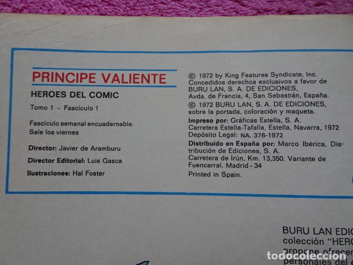 Cómics: príncipe valiente 1 los caballeros de la tabla redonda héroes del comic ediciones buru lan 1972 - Foto 3 - 287059603