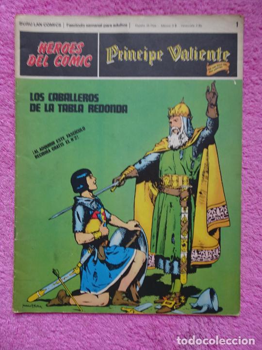 PRÍNCIPE VALIENTE 1 LOS CABALLEROS DE LA TABLA REDONDA HÉROES DEL COMIC EDICIONES BURU LAN 1972 (Tebeos y Comics - Buru-Lan - Principe Valiente)