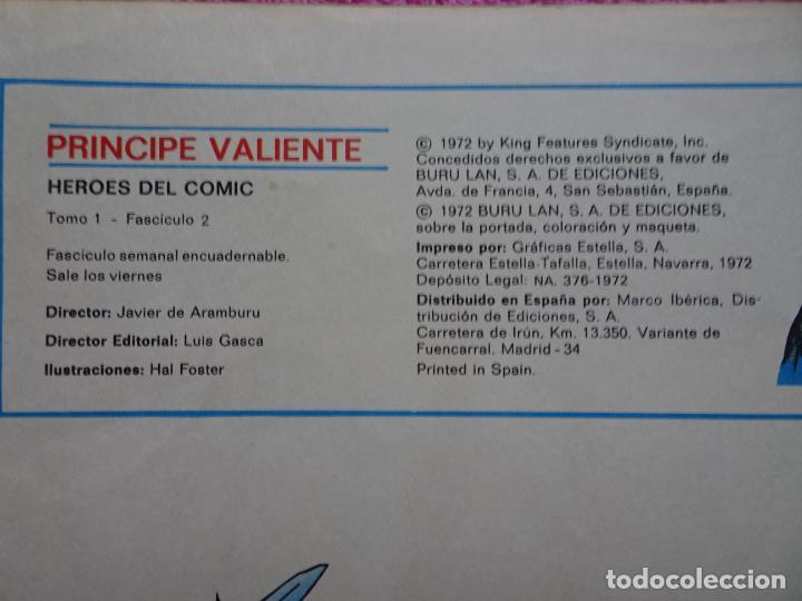 Cómics: príncipe valiente 2 la emboscada héroes del comic ediciones buru lan 1972 - Foto 3 - 287059858