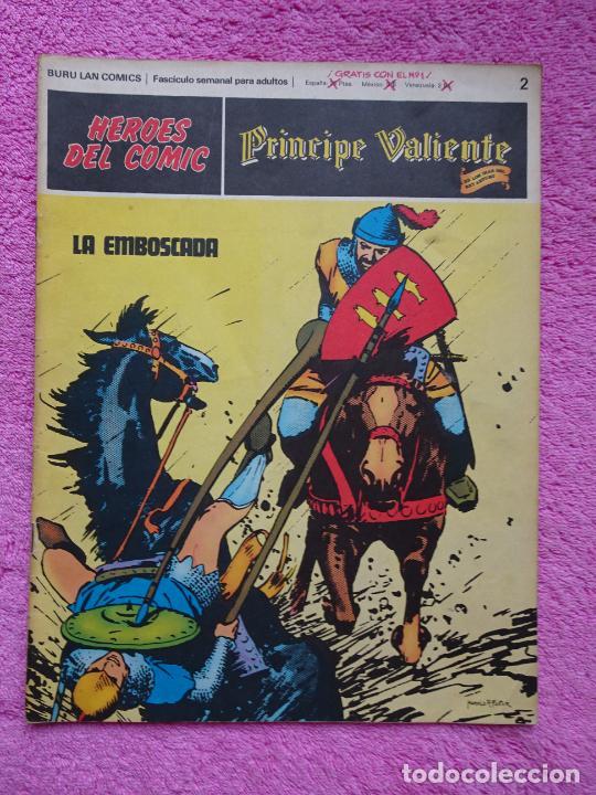 PRÍNCIPE VALIENTE 2 LA EMBOSCADA HÉROES DEL COMIC EDICIONES BURU LAN 1972 (Tebeos y Comics - Buru-Lan - Principe Valiente)