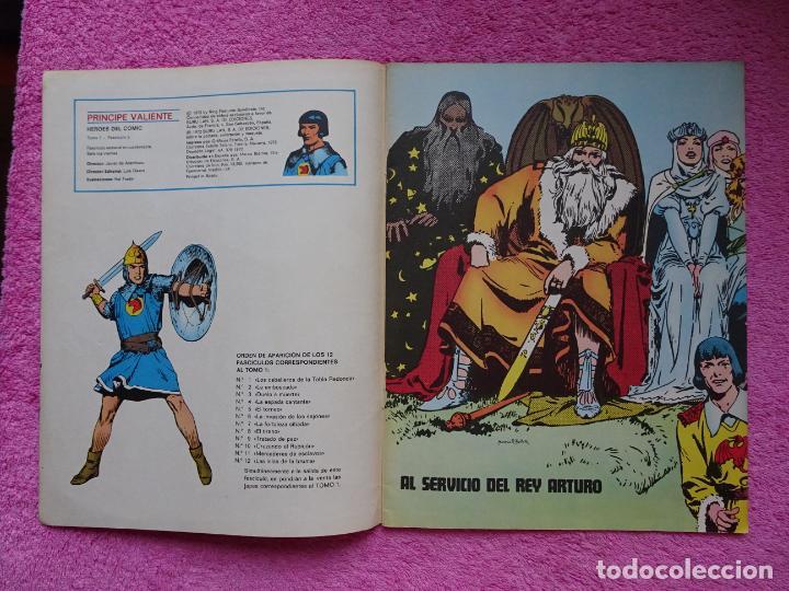 Cómics: príncipe valiente 5 el torneo héroes del comic ediciones buru lan 1972 - Foto 2 - 287061043