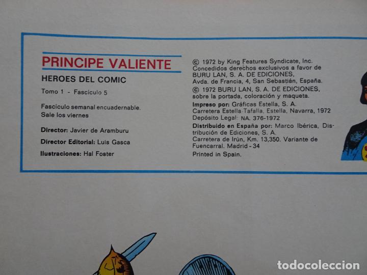 Cómics: príncipe valiente 5 el torneo héroes del comic ediciones buru lan 1972 - Foto 3 - 287061043
