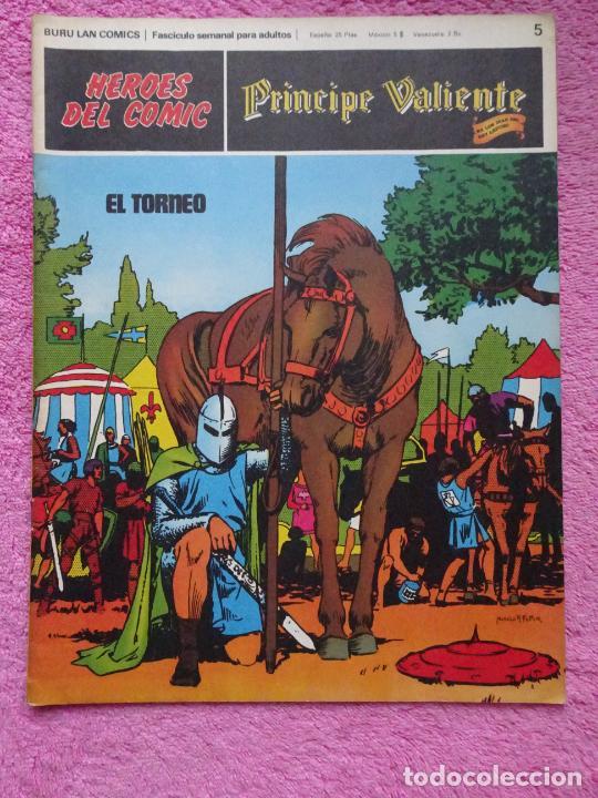 PRÍNCIPE VALIENTE 5 EL TORNEO HÉROES DEL COMIC EDICIONES BURU LAN 1972 (Tebeos y Comics - Buru-Lan - Principe Valiente)