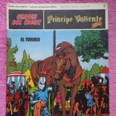 Cómics: PRÍNCIPE VALIENTE 5 EL TORNEO HÉROES DEL COMIC EDICIONES BURU LAN 1972. Lote 287061043