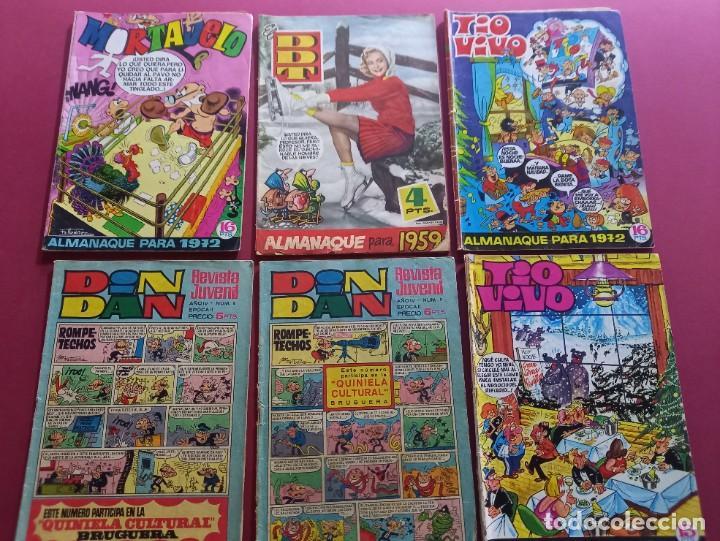 LOTE DE 6 TEBEOS ANTIGUOS (Tebeos y Comics - Comics Pequeños Lotes de Conjunto)